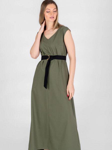 Повседневное платье весеннее зеленый Eliseeva Olesya