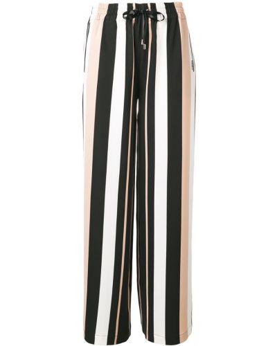 Свободные брюки расклешенные в полоску Liu Jo