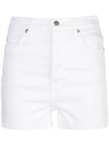 Белые джинсовые шорты с карманами со стразами Eve Denim