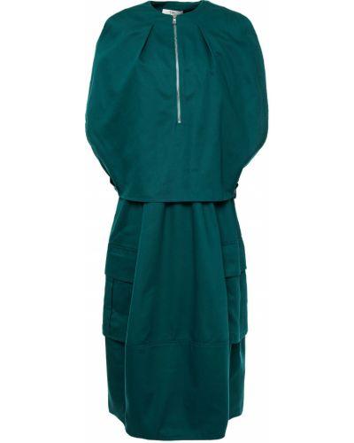 Sukienka midi bawełniana szmaragd Tibi