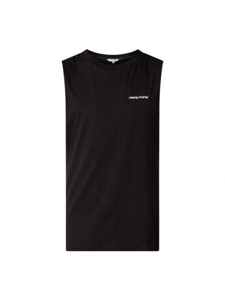 Bawełna bawełna czarny top z dekoltem Calvin Klein Underwear