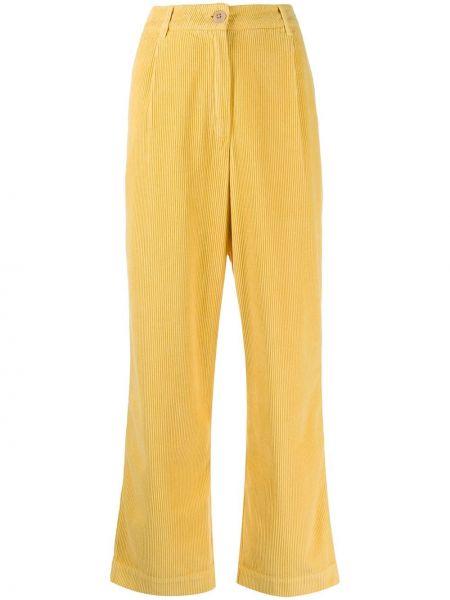 Прямые брюки вельветовые с карманами Folk