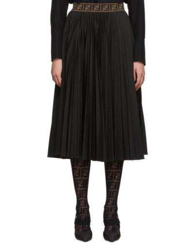 Плиссированная юбка на резинке пачка Fendi