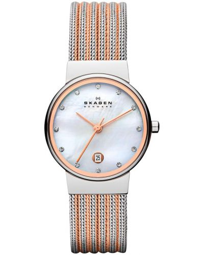 Złoty zegarek Skagen