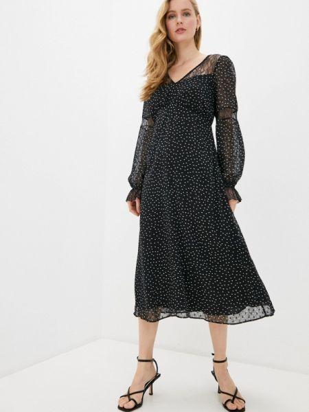Платье прямое черное Naf Naf