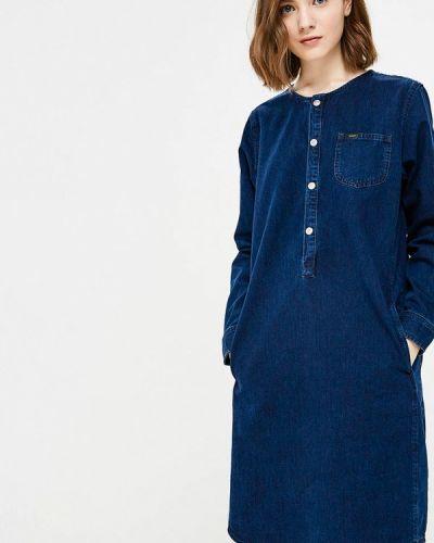 Синее джинсовое платье Lee