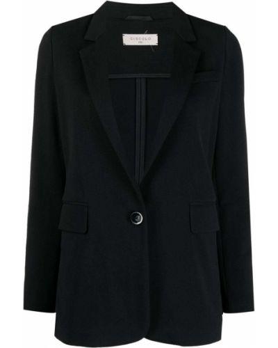 Однобортный черный удлиненный пиджак на пуговицах Circolo 1901