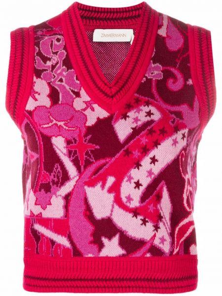 Кашемировая жилетка - розовая Zimmermann