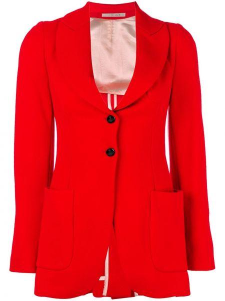 Приталенный красный удлиненный пиджак с карманами Vivienne Westwood Pre-owned