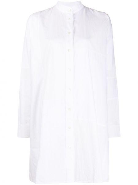 Белое платье миди на пуговицах с вырезом круглое Soulland