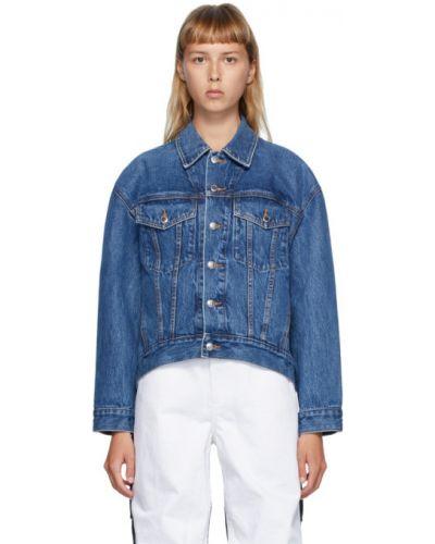 Кожаная куртка черная джинсовая Alexander Wang