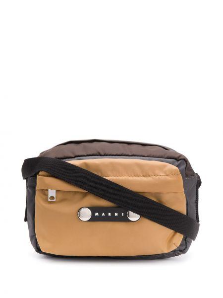 Skórzany torba z logo Marni