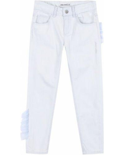 Широкие джинсы со стразами с аппликацией Simonetta