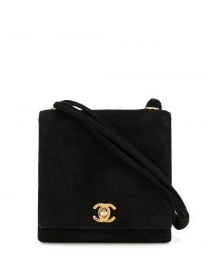 Черная сумка на плечо винтажная на молнии Chanel Pre-owned