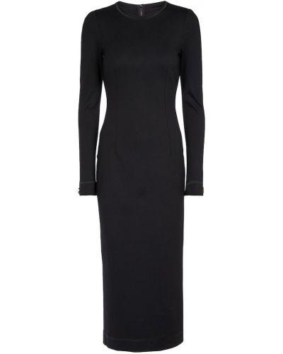 Черное платье из вискозы Dolce & Gabbana