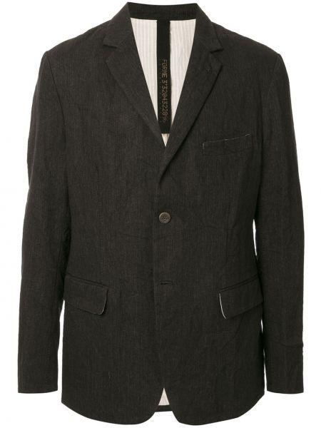 Черный однобортный классический пиджак на пуговицах с карманами Forme D'expression