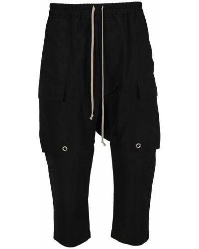 Czarne spodnie oversize Rick Owens