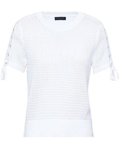 Biały top koronkowy bawełniany Rag & Bone