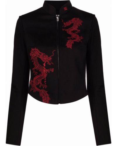 Ватная черная длинная куртка с воротником Misbhv