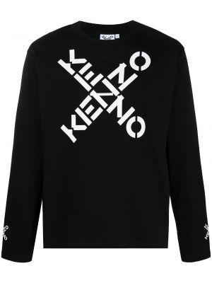 Черная хлопковая кофта Kenzo