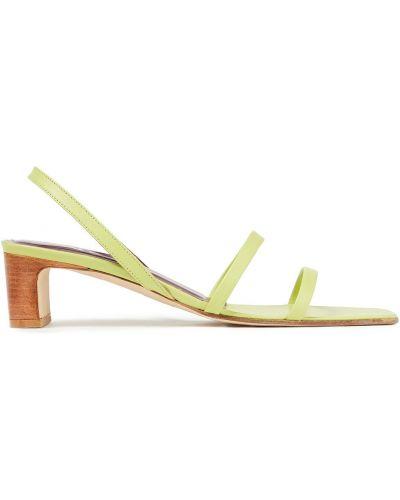 Кожаные сандалии - зеленые By Far