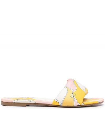 Sandały płaskie bez obcasa - żółte Emilio Pucci