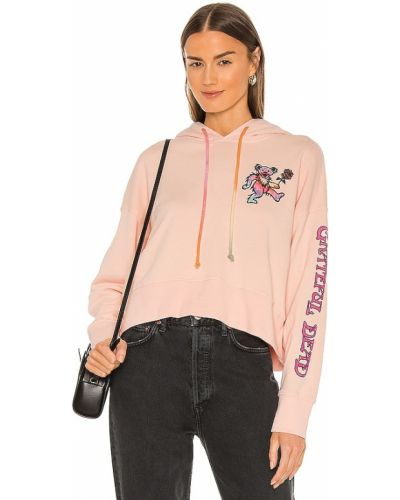 Różowa bluza z kapturem bawełniana Daydreamer