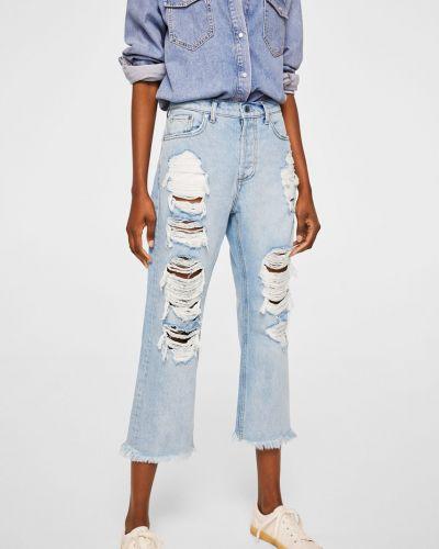 Прямые джинсы свободные на пуговицах Mango