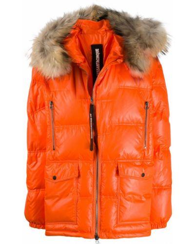 Прямая стеганая куртка с опушкой мятная As65