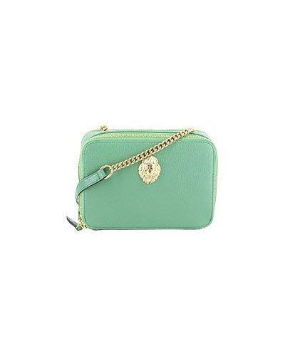Клатч на молнии зеленый Roberto Cavalli
