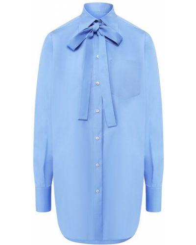 Блузка с длинным рукавом с бантом из поплина Valentino