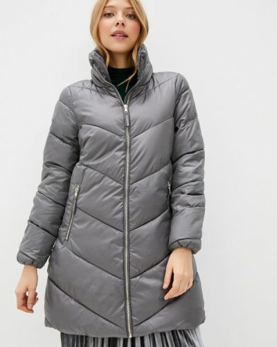Серая теплая куртка Baon