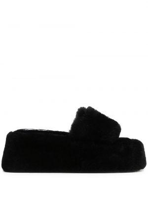 Кожаные сандалии - черные Naked Wolfe