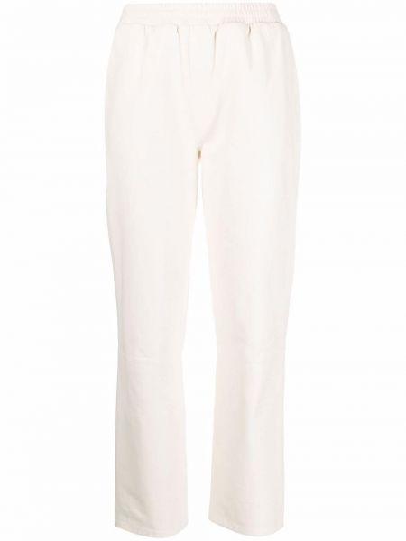 Кожаные брюки - белые Arma