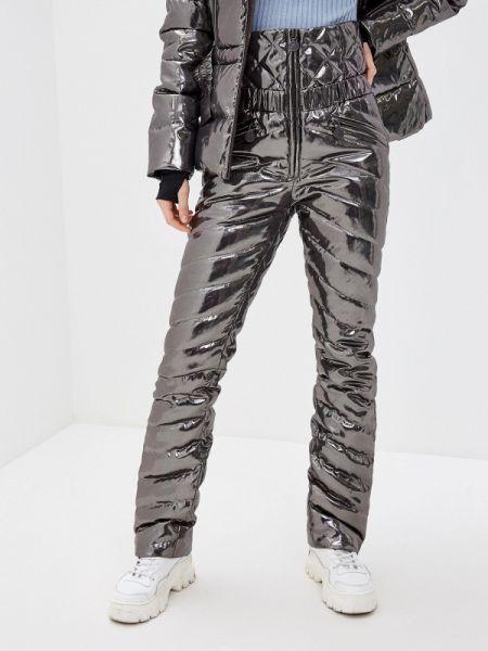 Серебряные теплые брюки Naumi