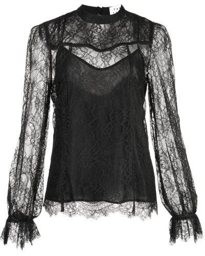 Блузка с длинным рукавом кружевная черная Tanya Taylor