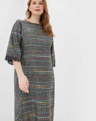 Повседневное платье весеннее серое Intikoma