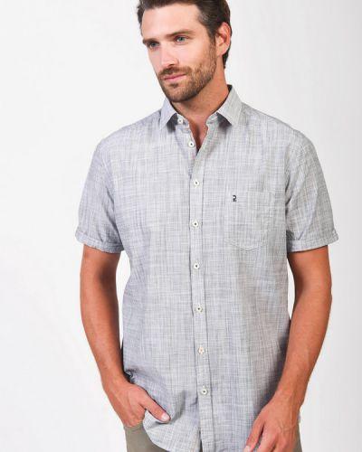 Хлопковая серая с рукавами рубашка Calamar