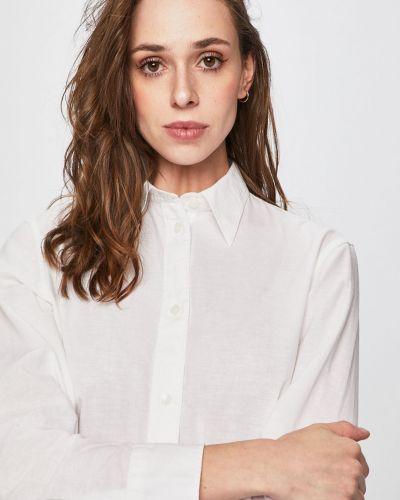 Блузка с длинным рукавом однотонная белая Calvin Klein