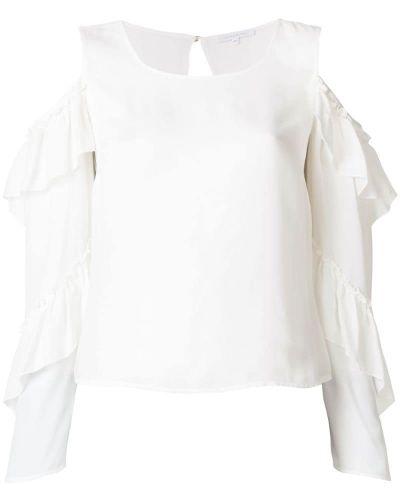 Белая блузка с открытыми плечами Patrizia Pepe