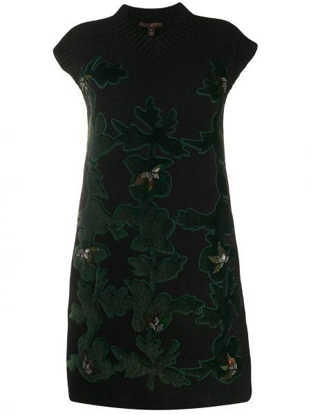 Sukienka mini wełniana o prostym kroju Louis Vuitton Pre-owned