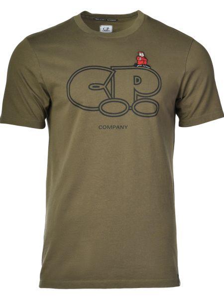 Хлопковая футболка - зеленая C.p. Company