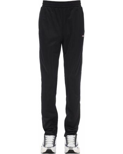 Czarne spodnie z nylonu Fila Urban