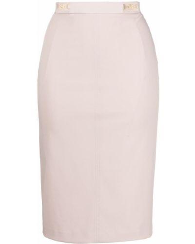 Розовая прямая с завышенной талией юбка карандаш Elisabetta Franchi