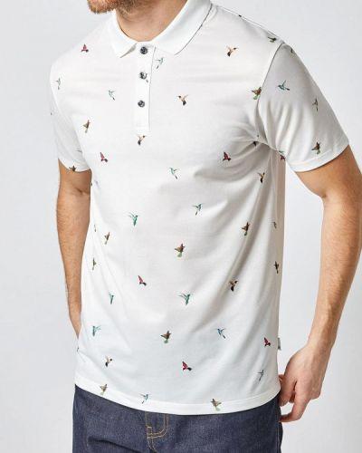 Поло с коротким рукавом белое Burton Menswear London