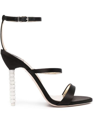 Босоножки на каблуке - черные Sophia Webster