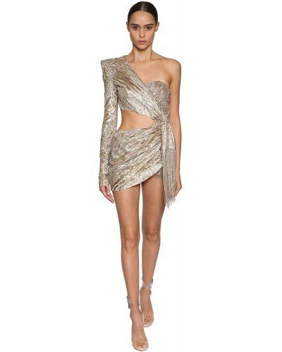 Платье с пайетками с вышивкой Julien Macdonald