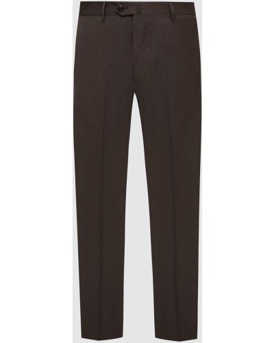 Шерстяные классические брюки - коричневые Castello D'oro