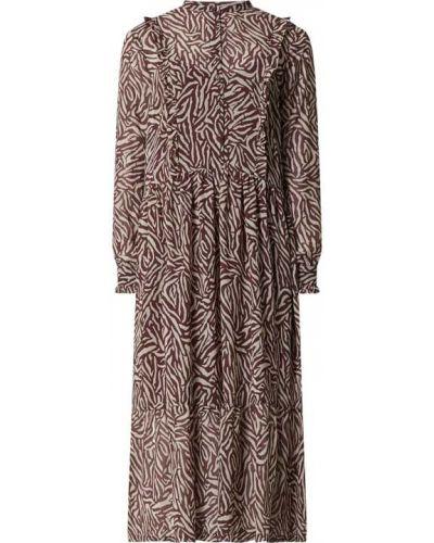 Sukienka rozkloszowana z falbanami Rosemunde