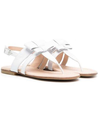 Открытые белые кожаные сандалии Montelpare Tradition